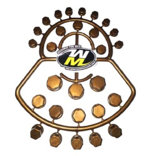 Capa de Parafuso De Moto 56 Peças Ouro
