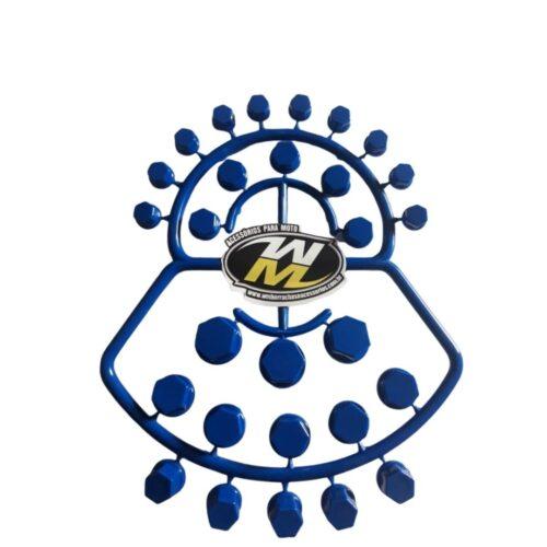 Capa de Parafuso De Moto 56 Peças azul