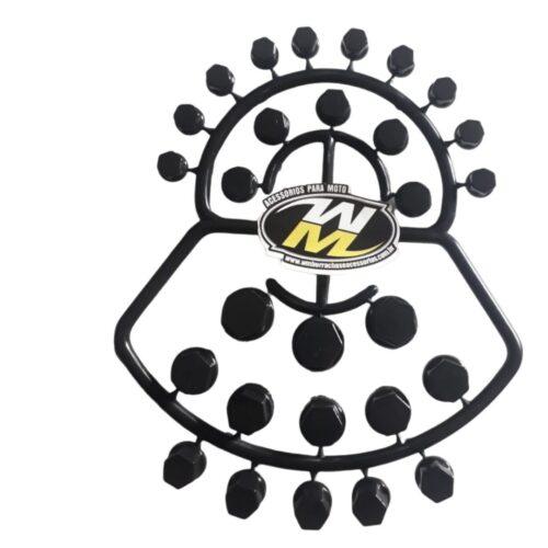 Capa de Parafuso De Moto 56 Peças preta