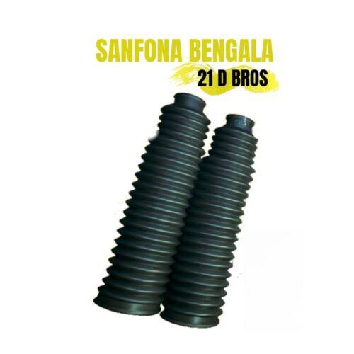 Sanfona Da Bengala 21 Dentes Preta